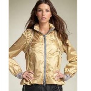 Stella Mcartney by Adidas gold metallic jacket.